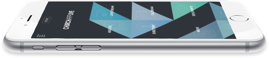 Image of church app main menu design