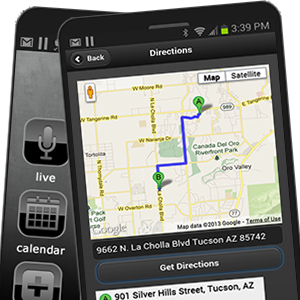 app for churches directions map